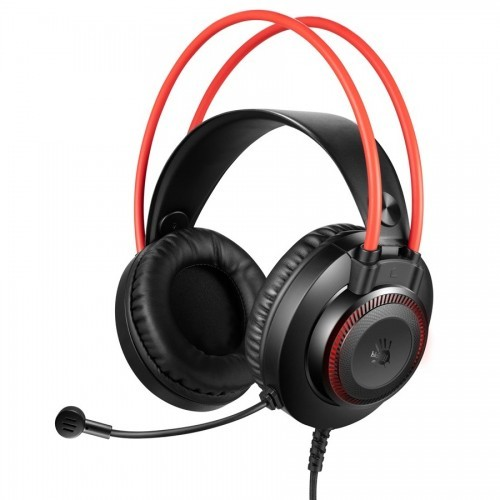 A4 Tech Bloody G200S Stereo Built In Metal Dual Support Headband Leather Padded Headband Large Ergonomic Soft Leather Ear Pads 7 Color Circular Breathing LED Backlight Adjustable Volume Control Knob Single Directional Noise Cancelling Mic Gaming Headphone