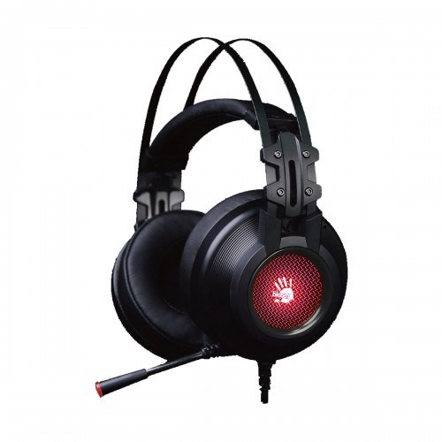 A4 Tech Bloody G525 Virtual 7.1 Surround Sound Ergonomic 3D Earpads Dual Support Metal Headband Omni Directional Microphone Adjustable Volume Control Leather Padded Headband 7 Color Circular Breathing Light USB Gaming Headphone