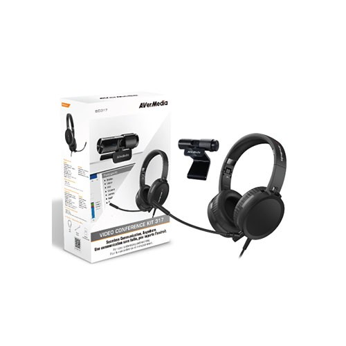 Avermedia BO317 Full HD 1920 x 1080 Pixel Resolution Seamless Communication for Video Conference and Recording KIT