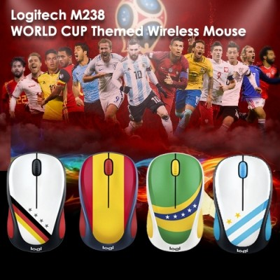 Logitech M238 33ft/10m Strong Wireless Connection Reliable Connectivity Mouse