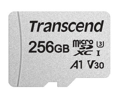 Transcend 300S 256GB UHS-I MicroSD Class 10 Read Up to 100MB/s with Adapter Memory Card