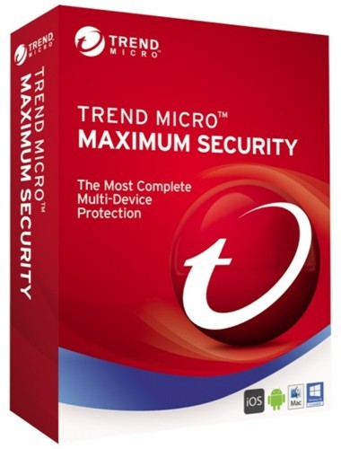 Trend Micro Maximum Security 10 (Total Security) 1 User 1 Year Multi Device Protection Antivirus