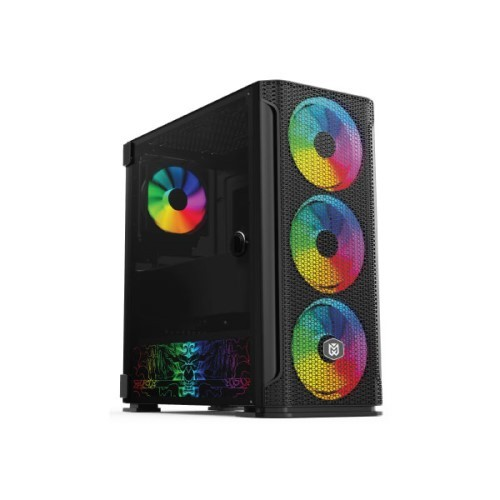 computer store Value-Top Mania X1 E-ATX 1x12cm & 3x14cm ARGB Fan One Side Rotary Lock Tempered Glass 1 x USB 3.0 2 x USB 2.0 without Power Supply Gaming Casing