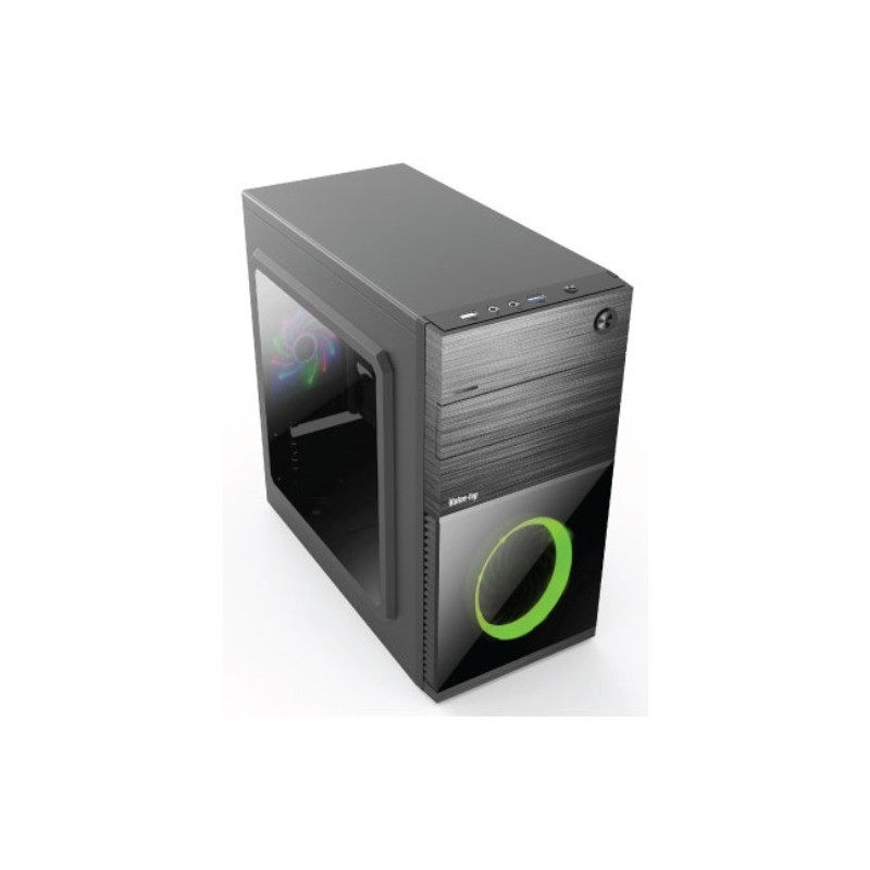 Value-Top VT-R855G Micro ATX With One Side Glass Door Front 12CM LED Fan 1 x USB 3.0 1 x USB 2.0 Gaming Casing