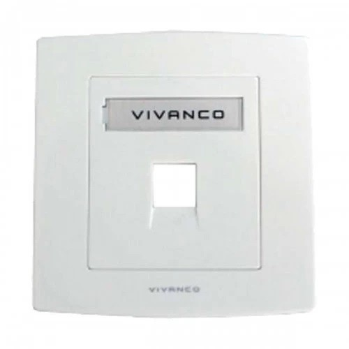 1-Port Face Plate with Shutter ( With Label Management 86 X 86 MM) VCA10