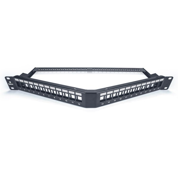CAT6 24 PORT Angular Patch Panel (Unshielded, Loded)Toolles VCCPUA6241