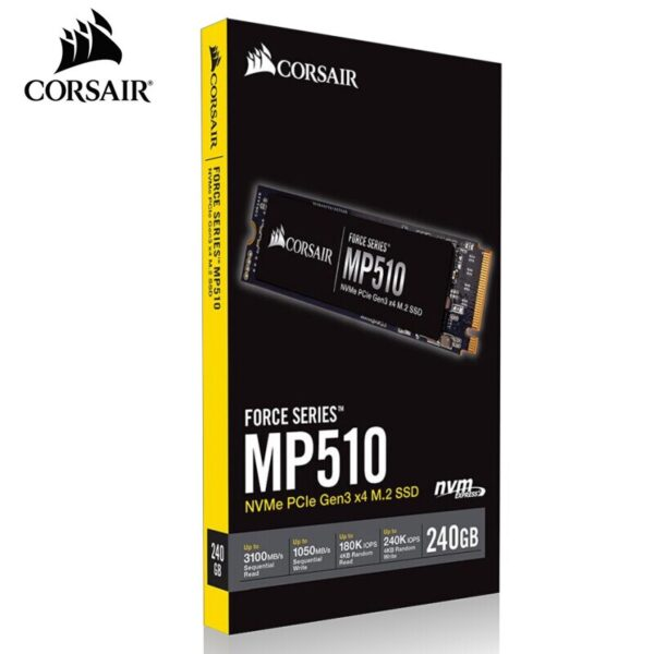 Corsair MP510 240GB M.2 NVMe PCIe Gen3 x4 M.2 3100MB/s Read 1050MB/s Write Speed Force Series Solid State Drive#CSSD-F240GBMP510