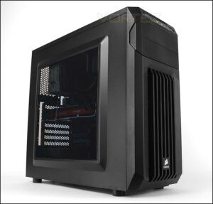 Corsair Spec 01 Carbide Series Mid Tower 120mm Red LED Fan One Side Acrylic Glass Panel 1 x USB 3.0 1 x USB 2.0 Without Power Supply Gaming Casing