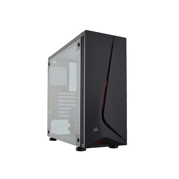 Corsair Spec 05 Carbide Series Mid Tower 120mm Red LED Fan One Side Acrylic Glass Panel 1 x USB 3.0 1 x USB 2.0 Without Power Supply Gaming Casing