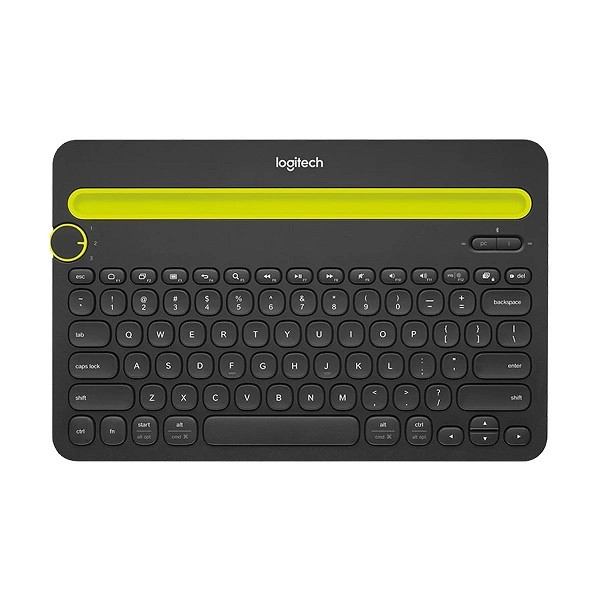 Logitech K480 10m/33ft Bluetooth Multi Device Switch Typing Between your Computer Phone and Tablet Keyboard