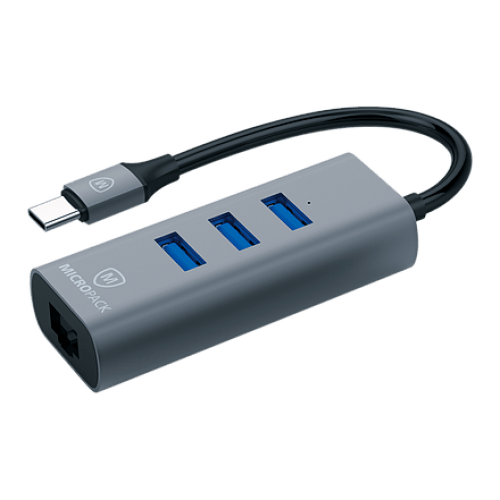 Micropack MDC-3AE USB-C to USB-A HUB with Ethernet