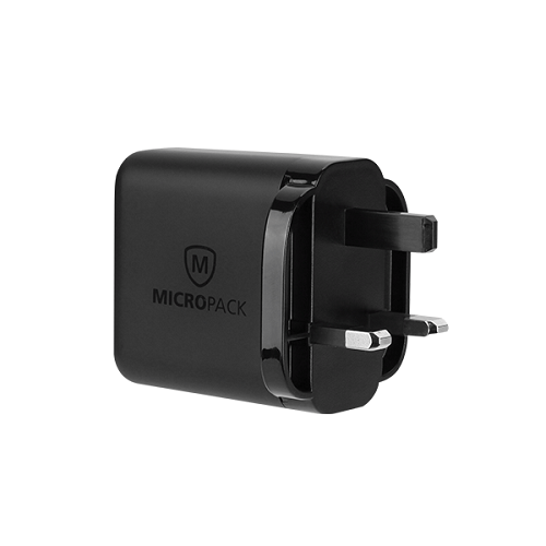 Micropack MWC-224S Black USB Wall Charger